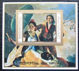 Poštovní známka Manáma 1971 Umìní, Goya neperf. Mi# Block 157 B Kat 10€