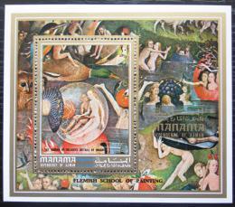Poštovní známka Manáma 1971 Umìní, Hieronymus Bosch Mi# Block 155 A Kat 6.50€