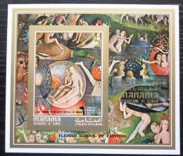 Poštovní známka Manáma 1971 Umìní, Bosch neperf. Mi# Block 155 B Kat 10€
