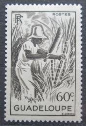 Poštovní známka Guadeloupe 1947 Sklízení cukrové tøtiny Mi# 217