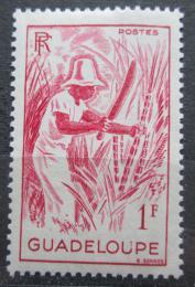 Poštovní známka Guadeloupe 1947 Sklízení cukrové tøtiny Mi# 218