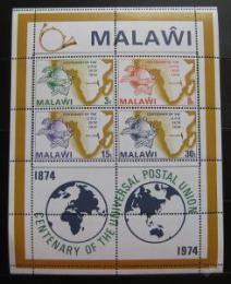 Poštovní známky Malawi 1974 UPU, 100. výroèí Mi# Block 36