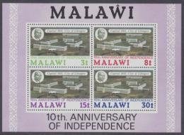 Poštovní známky Malawi 1974 Letecký pohled na Lilongwe Mi# Block 37