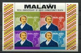 Poštovní známky Malawi 1973 David Livingstone Mi# Block 31