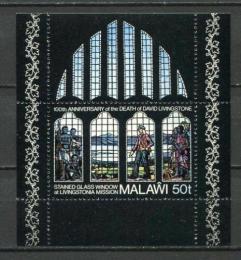 Poštovní známka Malawi 1973 Umìní, David Livingstone Mi# Block 34