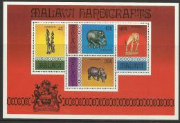 Poštovní známky Malawi 1977 Rukodìlné umìní Mi# Block 47