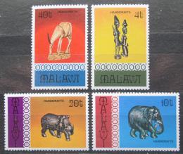 Poštovní známky Malawi 1977 Rukodìlné umìní Mi# 277-80