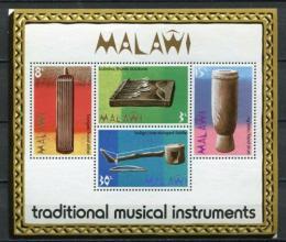 Poštovní známky Malawi 1973 Tradièní hudební nástroje Mi# Block 32