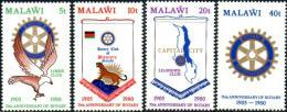 Poštovní známky Malawi 1980 Rotary Intl., 75. výroèí Mi# 340-43