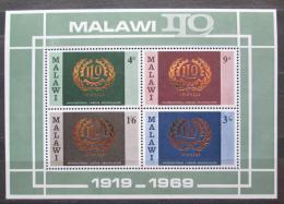 Poštovní známky Malawi 1969 ILO, 50. výroèí Mi# Block 13 Kat 6€