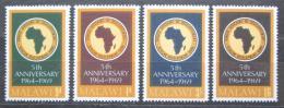 Poštovní známky Malawi 1969 Africká rozvojová banka, 5. výroèí Mi# 114-17