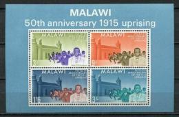 Poštovní známky Malawi 1965 Povstání roku 1915, 50. výroèí Mi# Block 3 Kat 10€