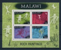 Poštovní známky Malawi 1972 Skalní malby Mi# Block 27 Kat 7.50€