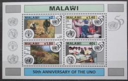 Poštovní známky Malawi 1995 OSN, 50. výroèí Mi# Block 79