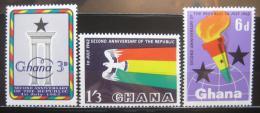 Poštovní známky Ghana 1962 Vznik republiky, 2. výroèí Mi# 127-29