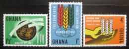 Poštovní známky Ghana 1963 Boj proti hladu Mi# 138-40
