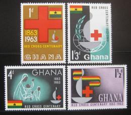 Poštovní známky Ghana 1963 Mezinárodní èervený køíž Mi# 145-48 Kat 11€