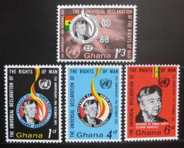 Poštovní známky Ghana 1963 Deklarace lidských práv Mi# 166-69