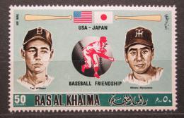 Poštovní známka Rás al-Chajma 1972 Baseballoví hráèi Mi# 719