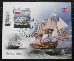 Poštovní známka Angola 2019 Plachetnice Mi# N/N