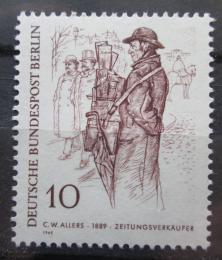 Poštovní známka Západní Berlín 1969 Prodavaè novin Mi# 331
