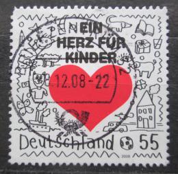 Poštovní známka Nìmecko 2008 Srdce pro dìti Mi# 2706
