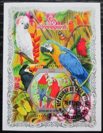 Poštovní známka Pobøeží Slonoviny 2018 Papoušci Mi# N/N