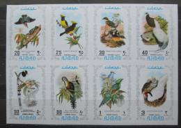 Poštovní známky Adžmán 1971 Ptáci neperf. Mi# 887-94 B Kat 13.80€