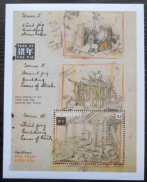 Poštovní známka Svatý Vincenc 1992 Disney, Tøi malá prasátka Mi# Block 255