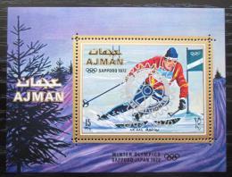 Poštovní známka Adžmán 1971 ZOH Sapporo pøetisk Mi# Block 322 A Kat 9€