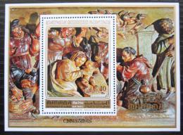 Poštovní známka Manáma 1972 Umìní, vánoce Mi# Block 174 A Kat 10€