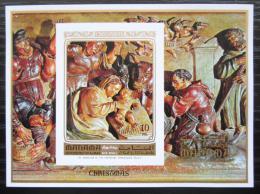 Poštovní známka Manáma 1972 Umìní, vánoce neperf. Mi# Block 174 B Kat 17€