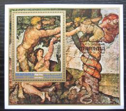 Poštovní známka Manáma 1971 Umìní, Adam a Eva Mi# Block 133 A