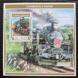 Poštovní známka Svatý Tomáš 2017 Parní lokomotivy Mi# Block 1304 Kat 12€