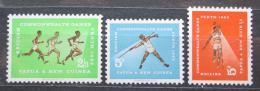 Poštovní známky Papua Nová Guinea 1962 Hry Commonwealthu Mi# 46-48