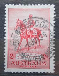 Poštovní známka Austrálie 1935 Král Jiøí V. na koni Mi# 129