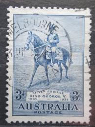 Poštovní známka Austrálie 1935 Král Jiøí V. na koni Mi# 130