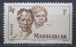 Poštovní známka Madagaskar 1946 Domorodci Mi# 393