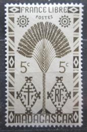 Poštovní známka Madagaskar 1943 Strom cestovatelù Mi# 350