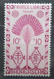 Poštovní známka Madagaskar 1943 Strom cestovatelù Mi# 351