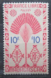Poštovní známka Madagaskar 1943 Strom cestovatelù Mi# 362