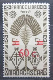 Poštovní známka Madagaskar 1944 Strom cestovatelù pøetisk Mi# 374