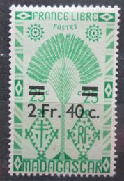 Poštovní známka Madagaskar 1944 Strom cestovatelù pøetisk Mi# 379