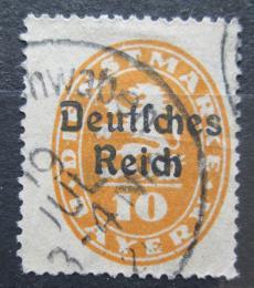 Poštovní známka Nìmecko 1920 Bavorsko pøetisk , úøední Mi# 35