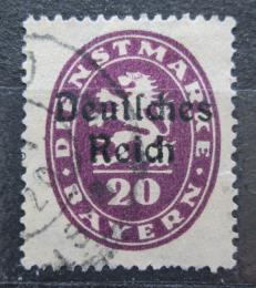 Poštovní známka Nìmecko 1920 Bavorsko pøetisk , úøední Mi# 37
