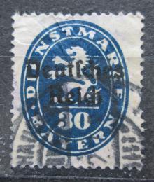 Poštovní známka Nìmecko 1920 Bavorsko pøetisk , úøední Mi# 38