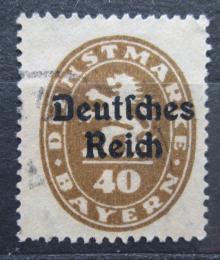 Poštovní známka Nìmecko 1920 Bavorsko pøetisk , úøední Mi# 39