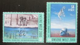 Poštovní známky OSN Vídeò 2000 Umìní, náš svìt v roce 2000 Mi# 307-08