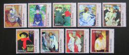 Poštovní známky Guinea-Bissau 2001 Umìní, Toulouse-Lautrec Mi# 1669-77 Kat 11€