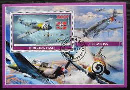 Poštovní známka Burkina Faso 2019 Váleèná letadla Mi# N/N